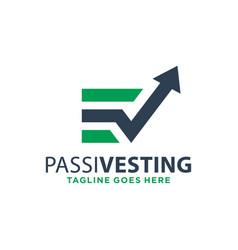 Logo design investment marketing letter e vector