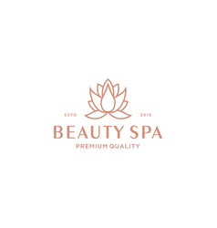 Lotus spa logo design vector