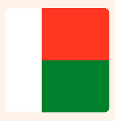 Madagascar square flag button social media vector