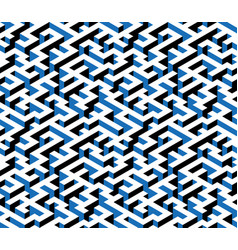 maze labyrinth - isometric endless pattern vector image