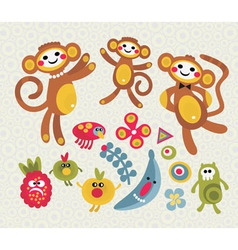 monkey mania vector image