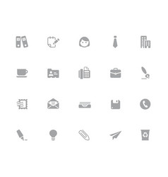 office business icons 32 pixels icons white vector image