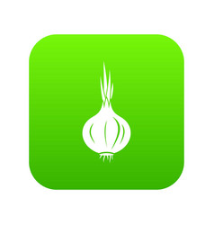 onion icon digital green vector image