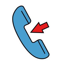 phone service with arrow vector image