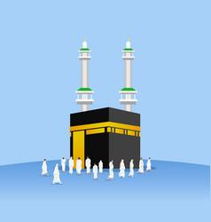 Pilgrimage surrounding kaaba vector