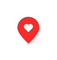 Pin pointer like favorite place vector