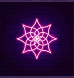 pink lotus neon sign vector image