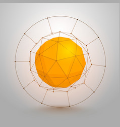 polygonal sphere of information vector image