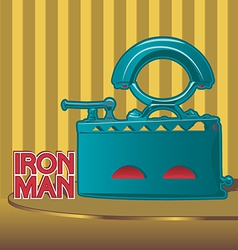 Retro smoothing iron poster design vector