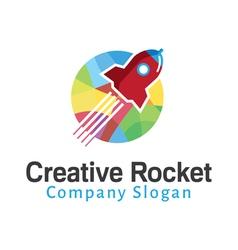 Rocket Creative Design vector image