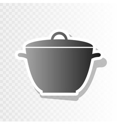 saucepan simple sign new year blackish vector image vector image