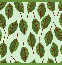 Seamles leaf pattern vector