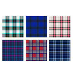Seamless checkered plaid pattern bundle 7 vector