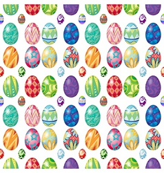 Seamless design with Easter eggs vector image