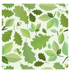 Seamless green foliage vector image