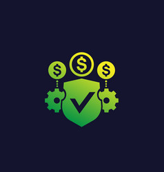 Secure financial operations icon vector