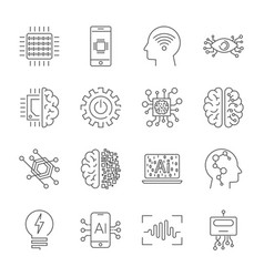 Simple set artificial intelligence related vector