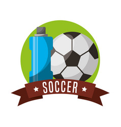 soccer sport emblem icon vector image