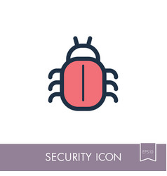 Software or program bug icon vector
