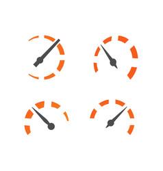 Speedometer logo icon template vector