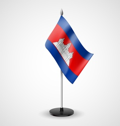 Table flag of Cambodia vector