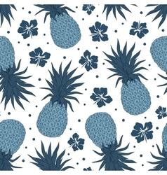 Vintage pineapple seamless pattern vector