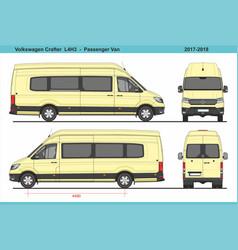 Volkswagen crafter passenger van l4h3 2017-2018 vector