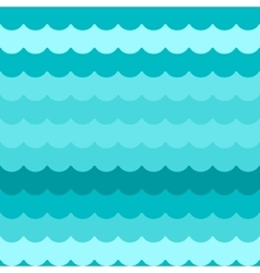 Waves background seamless blue flat wave vector