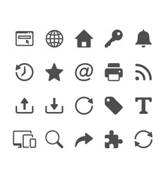 web glyph icons vector image