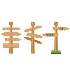 Wooden crossroads vector