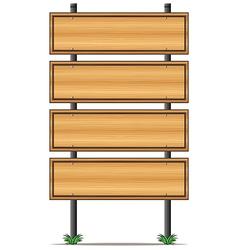 Wooden empty signboards vector image