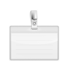 Badge Holder vector image vector image
