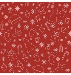 Christmas seamless pattern with line christmas vector image vector image