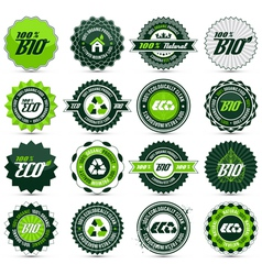 eco label set vector image vector image