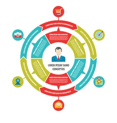 Infographic business circle concept with icons vector