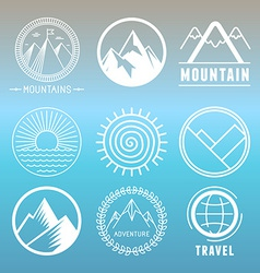mountain logos and emblems vector image