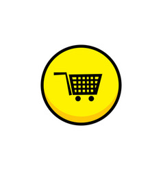 Shop cart video game asset menu icon button layer vector