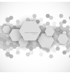 Abstract blue hexagons background vector image