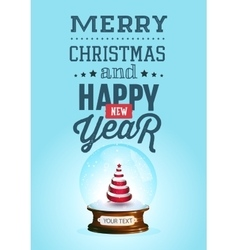 Christmas and new year lettering background vector image