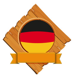 Flag of germany on wooden board vector