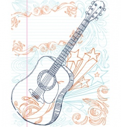 guitar with text area vector image
