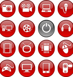 Multimedia icons vector image