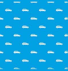 retro car pattern seamless blue vector image