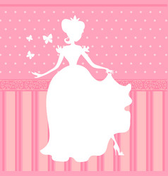 retro pink background with little beautiful vector image vector image