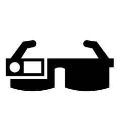Smart glasses icon vector image vector image