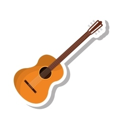acoustic guitar isolated icon vector image