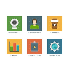 Flat design infographic elements vector image vector image