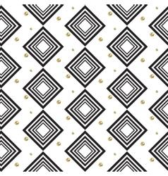 Gold foil glitter polkadot and black rhombs vector image vector image