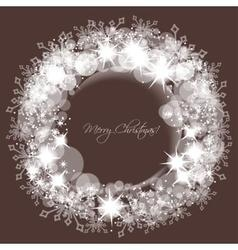 Sparkling lights and snowflakes Christmas round vector image vector image