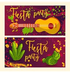 invitation for fiesta festival vector image vector image